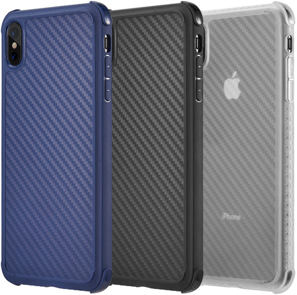 Carbon Flex TPU Gel Skin Case Slim Cover for Apple iPhone X/Xs/10/10s