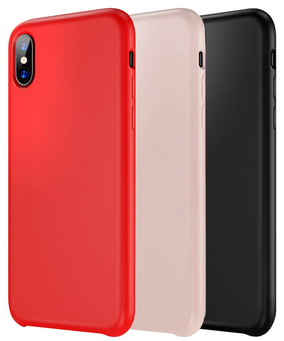 Liquid Silicone Soft Flexible Case Skin Cover for iPhone Xs Max 6.5