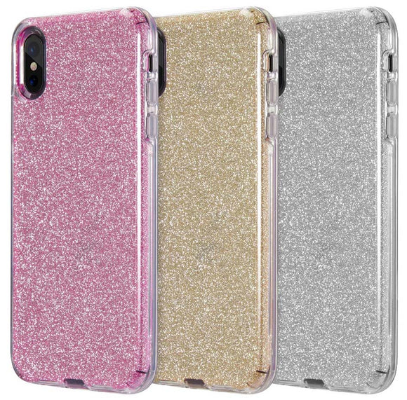 Hybrid Glitter Flex Skin Case Hard Cover for Apple iPhone XS Max (10s Max)