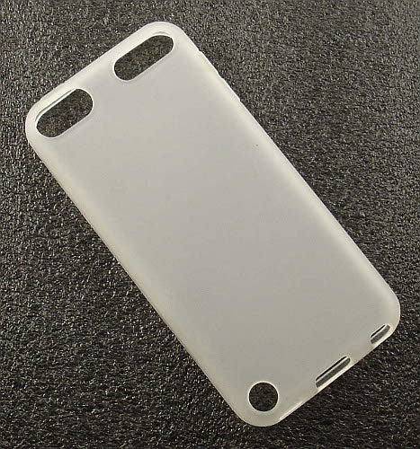 CLEAR FROST WHITE TPU CANDY SKIN CASE COVER FOR APPLE iPOD TOUCH 5 5th GEN