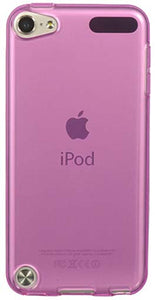 SEE-THRU PINK TPU CANDY SKIN CASE FLEXIBLE COVER FOR APPLE iPOD TOUCH 5 5th GEN