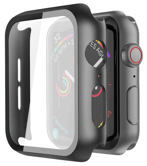 Case for Apple Watch (SERIES 6/5/4/SE, 40mm) - Black with Screen Guard Cover