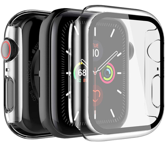 Case for Apple Watch (SERIES 6/5/4/SE, 40mm) - Clear with Screen Guard Cover