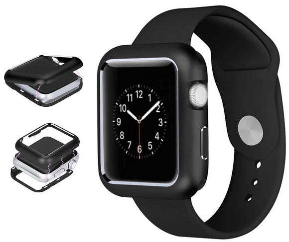 Black Magnetic Snap Case Aluminum Hard Cover for Apple Watch (Series 4, 40mm)