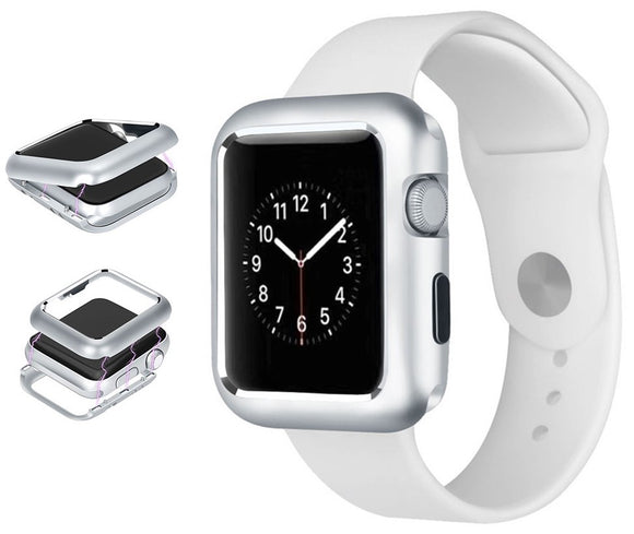 Silver Magnetic Snap Case Aluminum Hard Cover for Apple Watch (Series 4, 40mm)