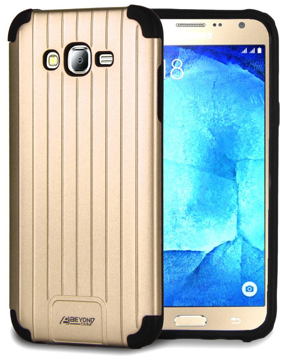GOLD MATTE METALLIC SLIM DUO-SHIELD CASE COVER FOR SAMSUNG GALAXY J7 (2015) J700
