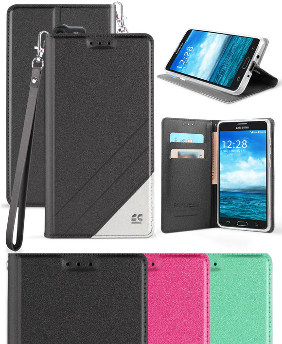 LANYARD WALLET CARD CASE STAND FOR SAMSUNG GALAXY J7 2017/PERX/SKY PRO/J7 V