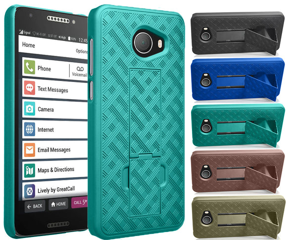 Slim Kick-Stand Case Hard Cover for GreatCall Jitterbug Smart2