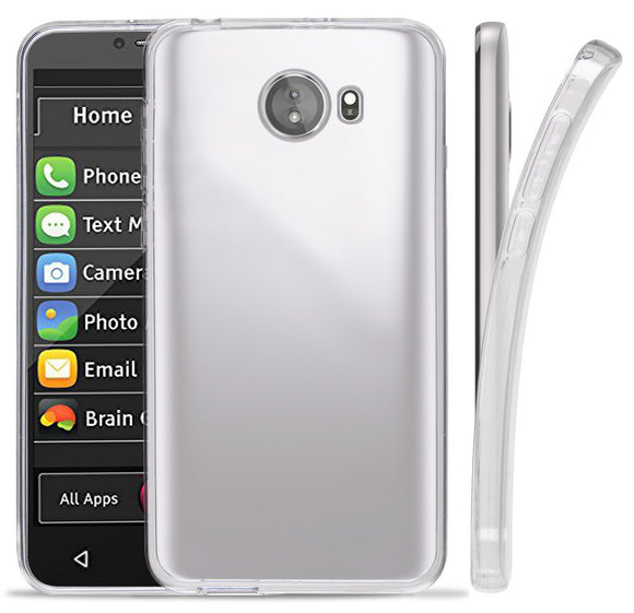 Transparent Clear Flex Gel TPU Skin Case Cover for GreatCall Jitterbug Smart2