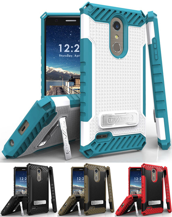 Tri-Shield Case Cover Stand for LG K30, Phoenix Plus, Premier Pro, Harmony 2