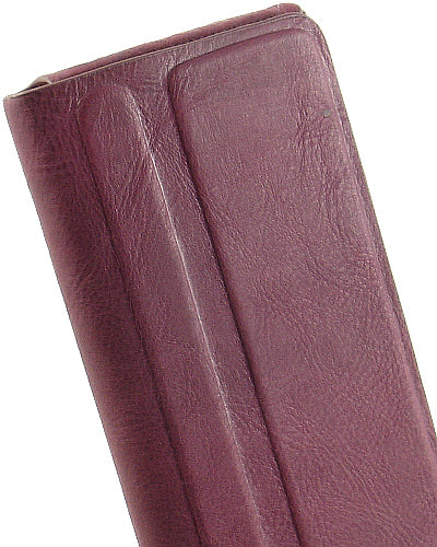 LIMITED LUXURY DARK PINK LEATHER FOLIO BOOK CASE STAND FOR APPLE iPHONE 4S 4 4G
