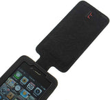 LIMITED LUXURY GENUINE BLACK LEATHER WALLET SLOT FLIP CASE FOR APPLE iPHONE 4S 4