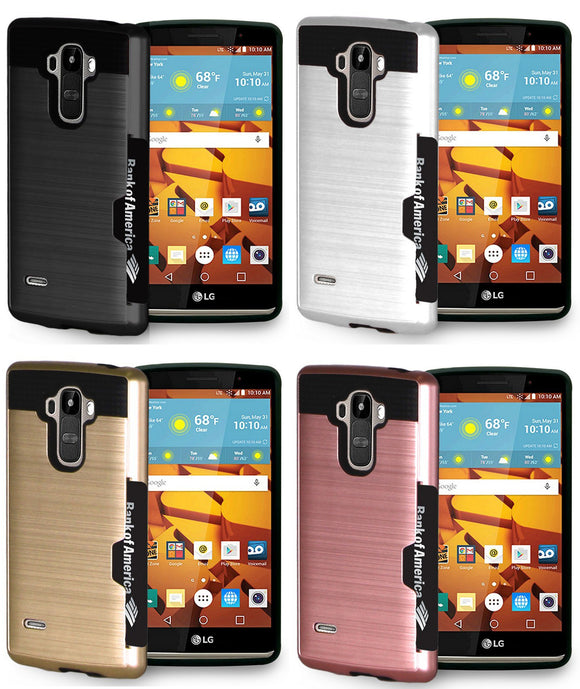 CREDIT CARD SLOT HARD CASE COVER FOR LG G STYLO MS631 H631 LS770