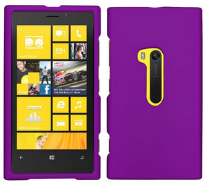 PURPLE RUBBERIZED HARD SHELL CASE COVER FOR NOKIA LUMIA 920