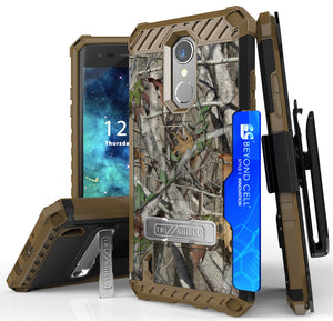 AUTUMN CAMO TREE REAL WOODS CASE BELT CLIP for LG Aristo 2 Plus, Tribute Dynasty