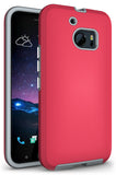 ANTI-SLIP PINK TEXTURED GRIP SKIN HARD CASE COVER FOR HTC 10 ONE M10 LIFESTYLE