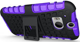 PURPLE GRENADE GRIP RUGGED TPU SKIN HARD CASE COVER STAND FOR HTC ONE M8 (2014)