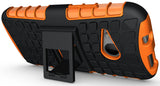 NEON ORANGE GRENADE TPU SKIN HARD CASE COVER STAND FOR HTC ONE REMIX ONE MINI-2