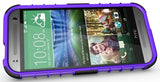 PURPLE GRENADE RUGGED TPU SKIN HARD CASE COVER STAND FOR HTC ONE REMIX MINI-2