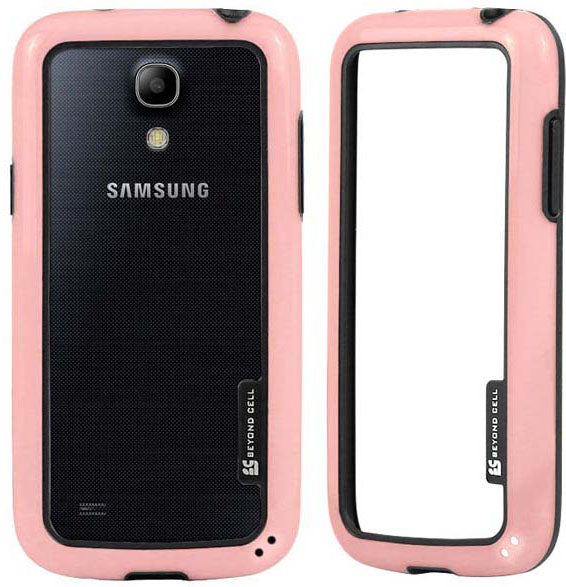 PINK AQUAFLEX LITE TPU BUMPER FRAME CASE FLEX COVER FOR SAMSUNG GALAXY S4 MINI