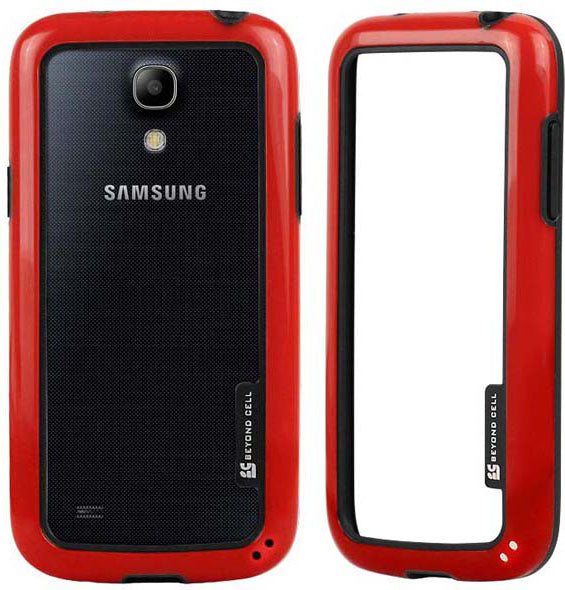 RED AQUAFLEX LITE TPU BUMPER FRAME CASE FLEX COVER FOR SAMSUNG GALAXY S4 MINI
