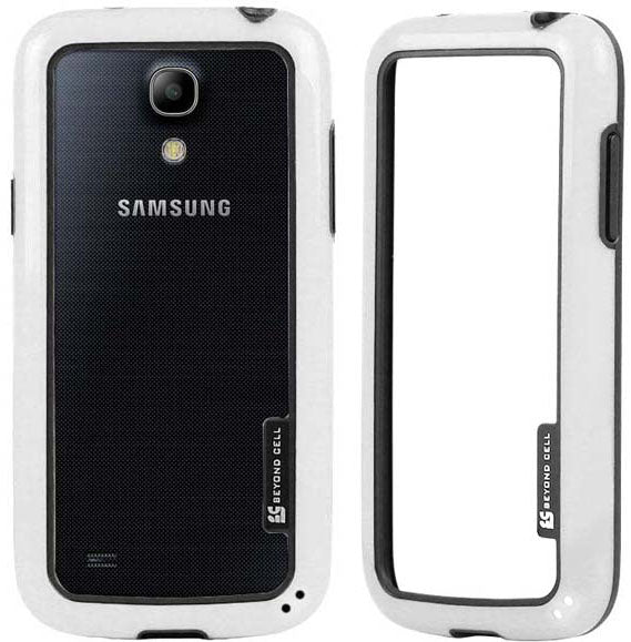 WHITE AQUAFLEX LITE TPU BUMPER FRAME CASE FLEX COVER FOR SAMSUNG GALAXY S4 MINI