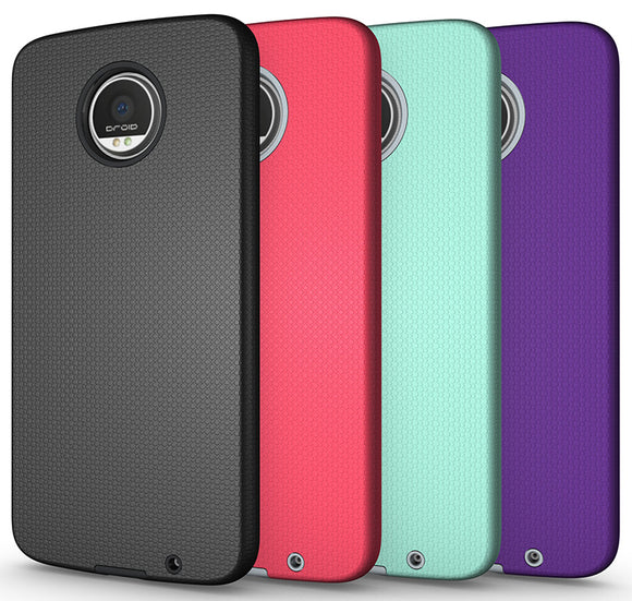 ANTI-SLIP TEXTURED GRIP SKIN HARD CASE COVER FOR VERIZON MOTOROLA MOTO Z