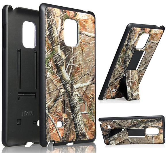 Camo Leaf Tree Kickstand Case Hard Cover for Samsung Galaxy Note Edge SM-N915