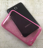 SEE THRU PINK AQUAFLEX TPU SKIN CASE COVER FOR SAMSUNG GALAXY NOTE 1st GEN