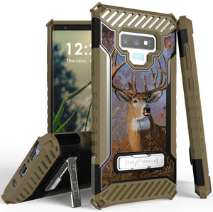 Buck Deer Camo Outdoor Hunter Rugged Case Cover Stand for Samsung Galaxy Note 9