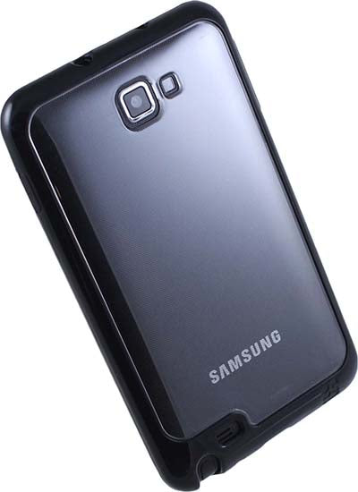 BLACK CLEAR AQUAFLEX TPU SKIN CASE COVER FOR SAMSUNG GALAXY NOTE 1st GEN