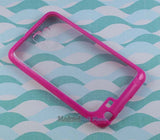 NEW PINK CLEAR AQUAFLEX TPU SKIN CASE FOR SAMSUNG GALAXY NOTE i717 N7000 i9220
