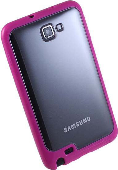 PINK CLEAR AQUAFLEX TPU SKIN CASE COVER FOR SAMSUNG GALAXY NOTE 1st GEN