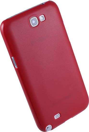 ULTRA SLIM RED PROTEX HARD SHELL CASE COVER FOR SAMSUNG GALAXY NOTE 2 II