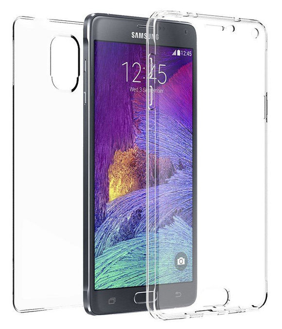 NEW TRI-MAX CLEAR SCREEN GUARD TPU CASE SLIM COVER FOR SAMSUNG GALAXY NOTE 4