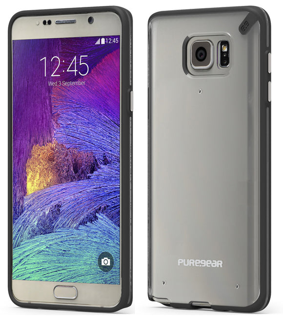 PUREGEAR SLIM SHELL BLACK/CLEAR CASE COVER FOR SAMSUNG GALAXY NOTE 5 SM-N920