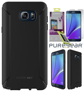 Tech21 BLACK EVO TACTICAL CASE + TEMPERED GLASS COVER FOR SAMSUNG GALAXY NOTE 5