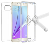 NEW TRI-MAX CLEAR SCREEN GUARD TPU CASE SLIM COVER FOR SAMSUNG GALAXY NOTE 5