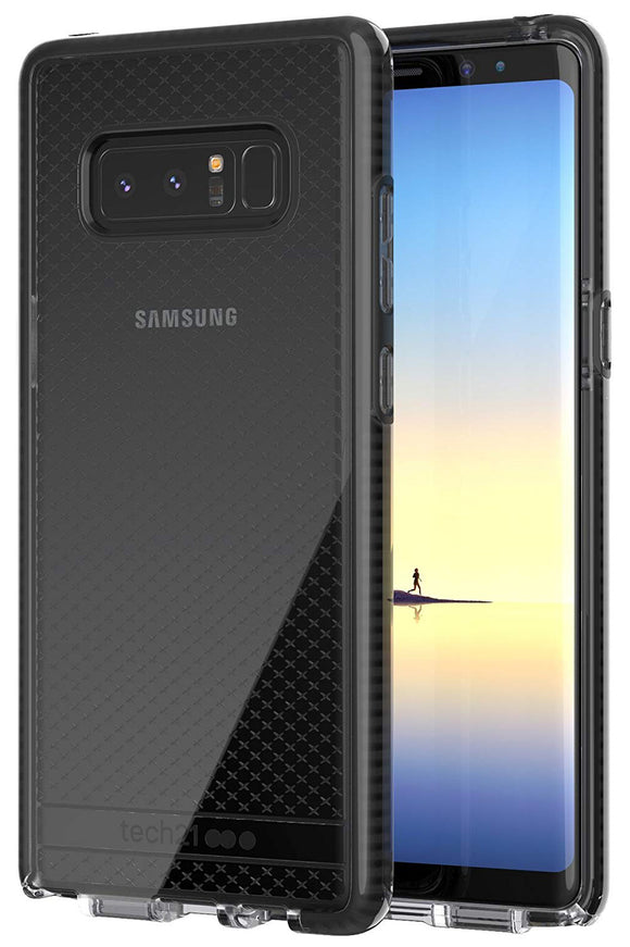 Tech21 Black Smoke EVO Check Anti-Shock Case TPU Cover for Samsung Galaxy Note 8