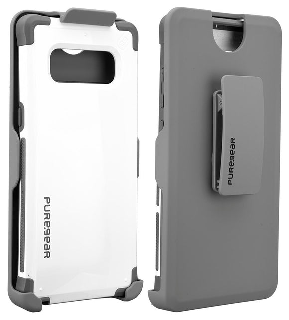 PureGear White Dualtek Extreme Rugged Case + Belt Clip for Samsung Galaxy Note 8