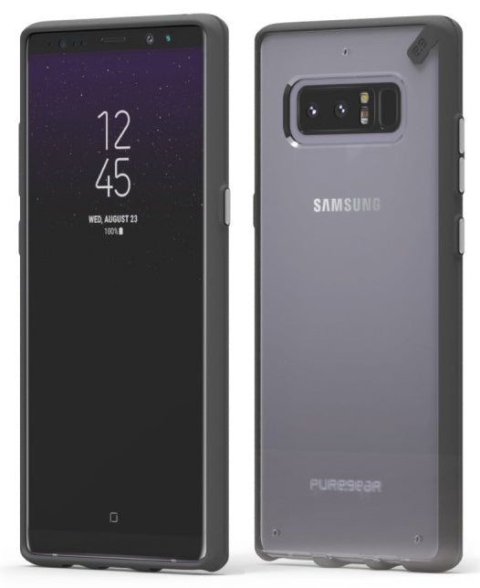 PureGear Black/Clear Slim Shell Case Hard Cover for Samsung Galaxy Note 8