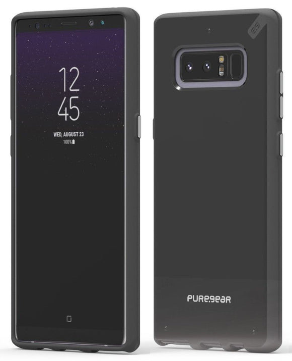 PureGear Jet Black Slim Shell Case Hard Cover for Samsung Galaxy Note 8