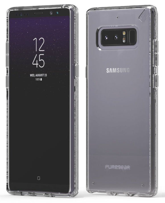 PureGear Clear Slim Shell Case Hard Transparent Cover for Samsung Galaxy Note 8