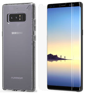 PureGear Clear Slim Shell Case Cover + Tech21 Screen Protector for Galaxy Note 8