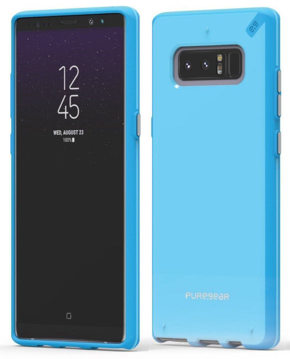 PureGear Aqua Sky Blue Slim Shell Case Hard Cover for Samsung Galaxy Note 8