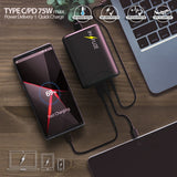 5-Port Universal Charging Station 75W Quick Charge 3.0 USB Type-C for Cell Phone
