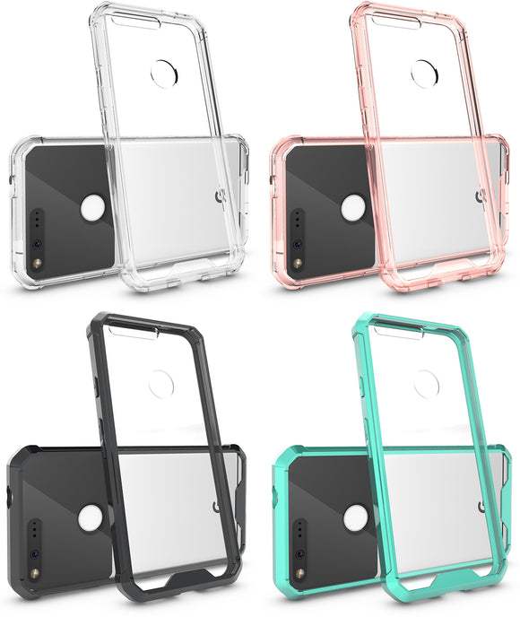 CLEAR TRANSPARENT AIR HYBRID ANTI-SHOCK TPU CASE HARD COVER FOR GOOGLE PIXEL XL