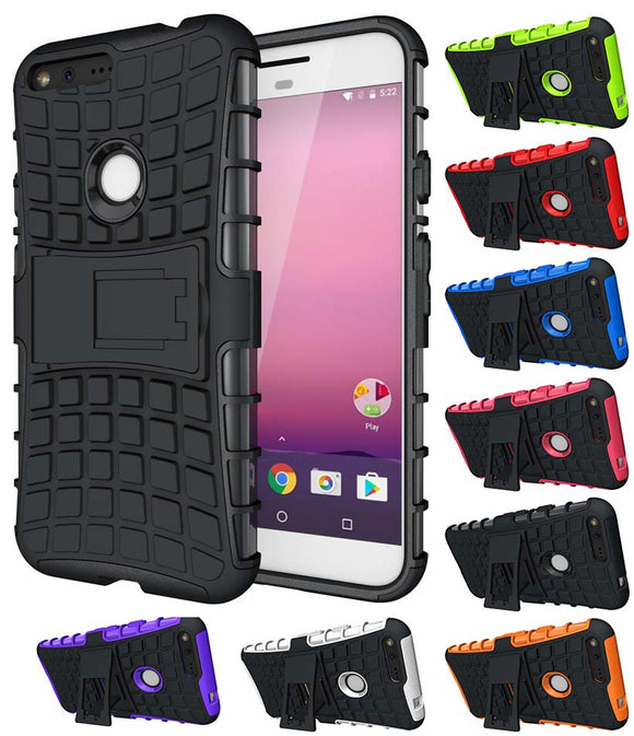 GRENADE GRIP RUGGED TPU SKIN HARD CASE COVER STAND FOR GOOGLE PIXEL