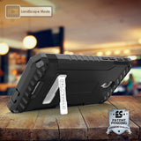 TRI-SHIELD CASE + BELT CLIP HOLSTER STRAP CARD SLOT FOR ALCATEL FIERCE 4, ALLURA