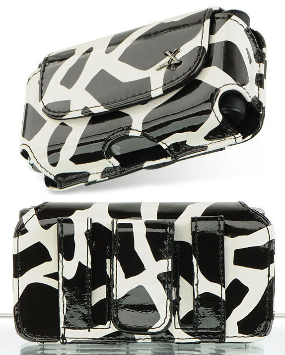 Black Zebra Case Pouch Belt Clip for Alcatel Go Flip, Smartflip, Jitterbug Flip